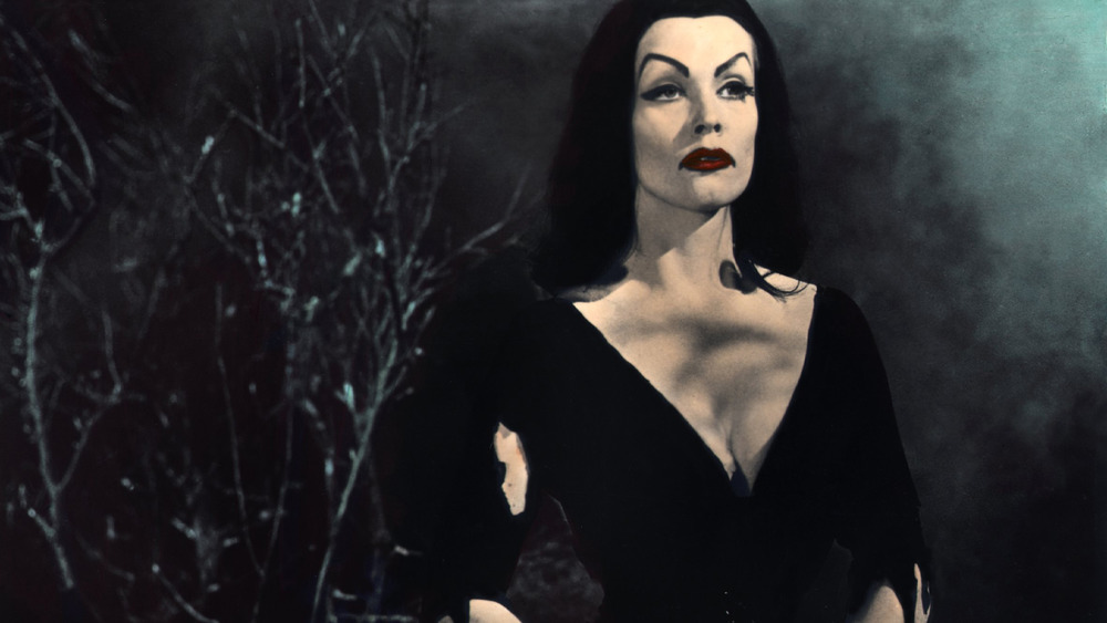 Maila Nurmi as Vampira in Ed Wood's Plan Nine From Outer Space