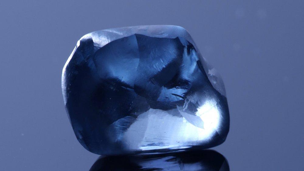 The Okavango Blue diamond, 41.11 carats rough stone
