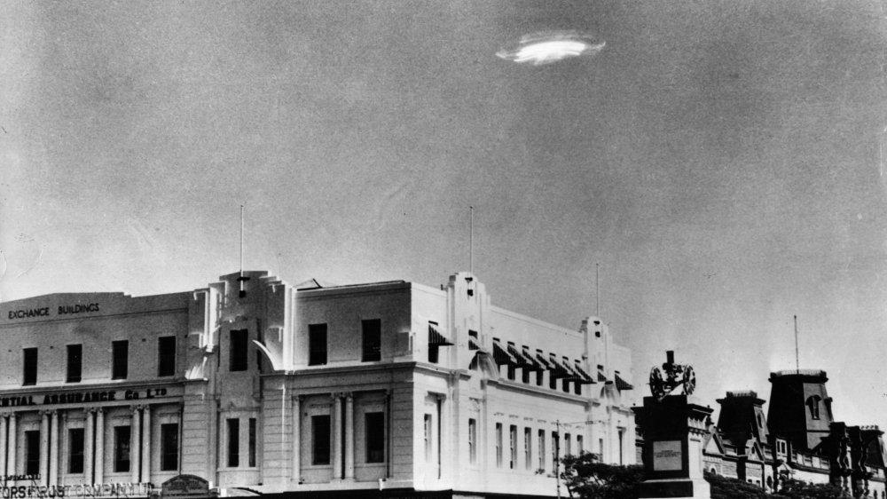 A UFO in the sky over Bulawayo, Southern Rhodesia in 1953