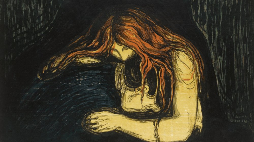 The Vampire II, 1895-1900. Private Collection. Artist : Munch, Edvard (1863-1944).