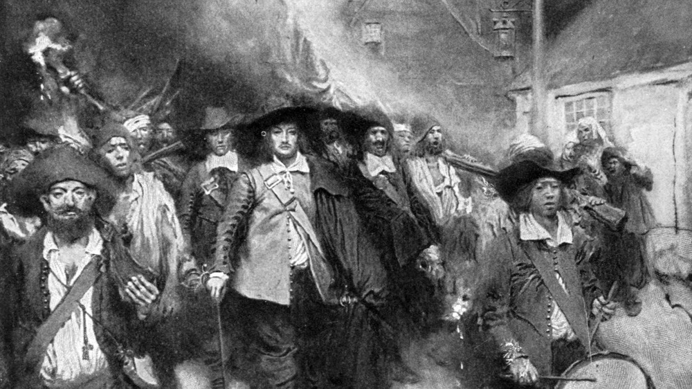 The Burning of Jamestown by Howard Pyle (1905)