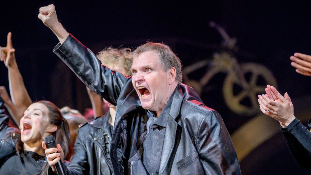 Meatloaf at a Bat Out of Hell concert in New York City in 2019