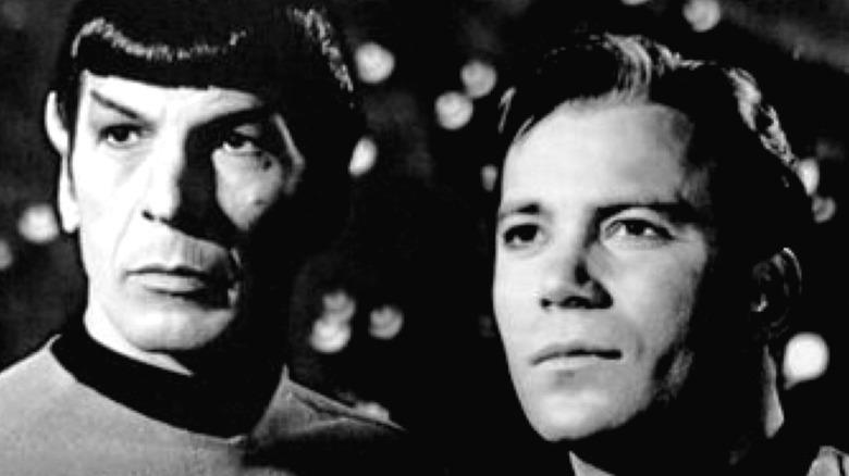 Actor Leonard Nimoy and William Shatner in Star Trek
