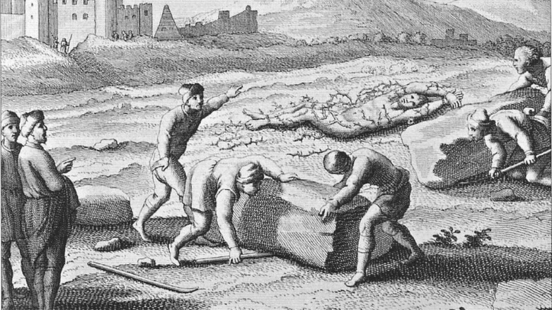 illustration of death by crushing