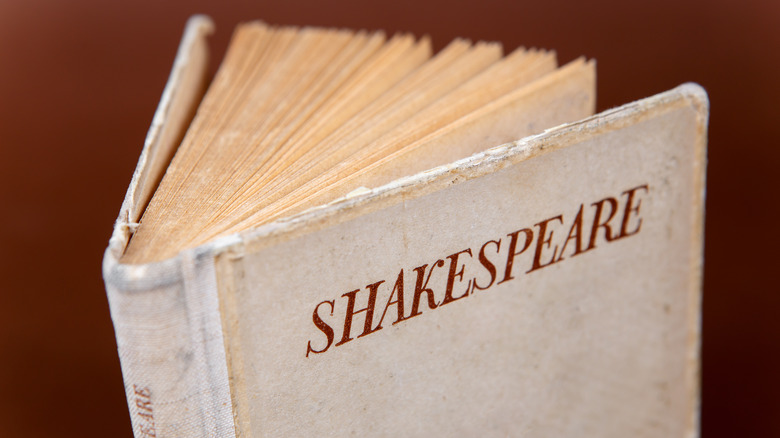 """Book with """"Shakespeare"""" emblazoned on cover"""