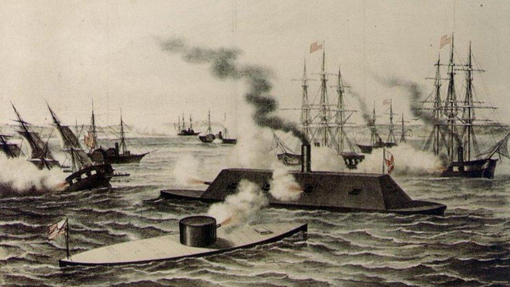 Civil War Ironclad battle