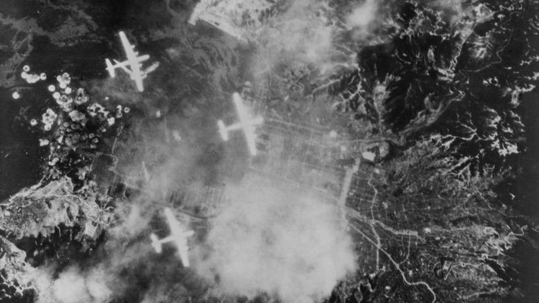 B-29 bombers over Japan