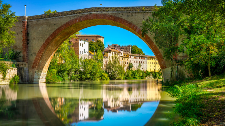 Ponte della Concordia ancient Roman bridge Italy