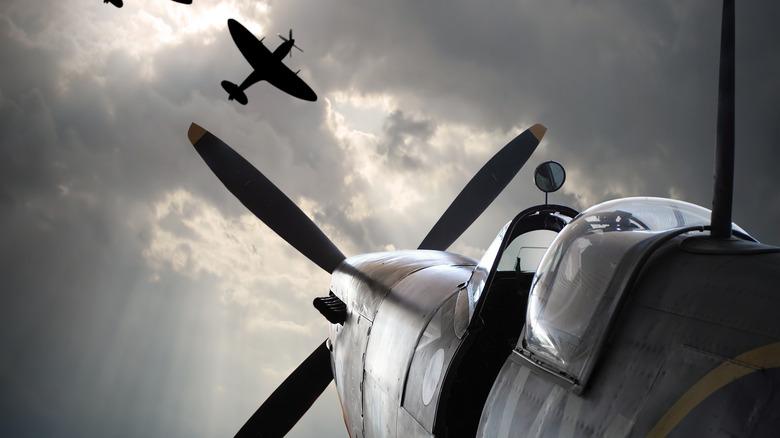 RAF Supermarine Spitfire airplanes