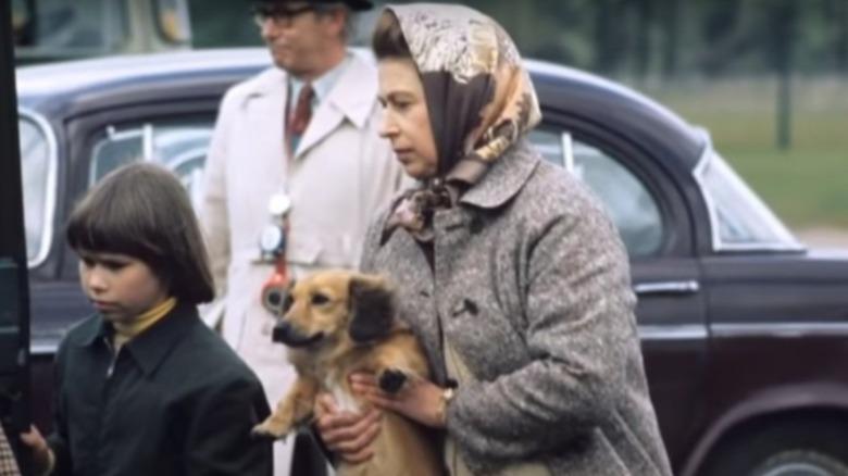 Queen Elizabeth with dorgi