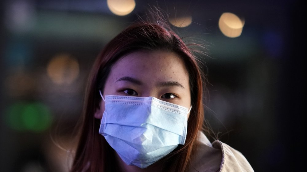 Chinese woman with medical mask