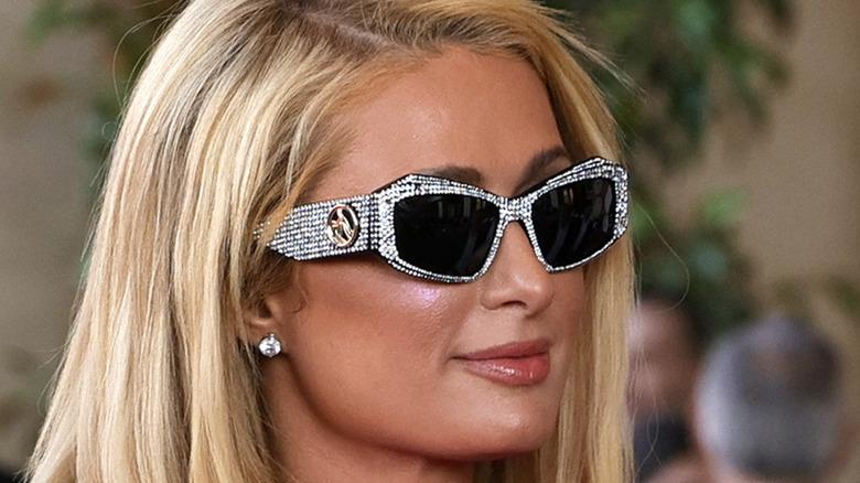 Paris Hilton wearing sunglasses