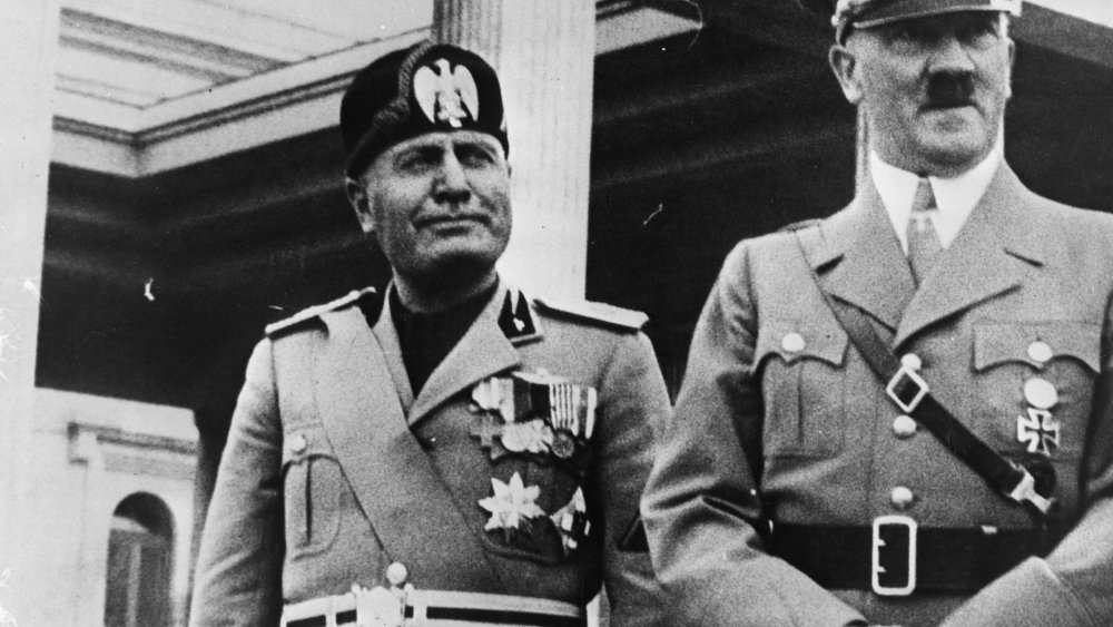 Mussolini next to Hitler