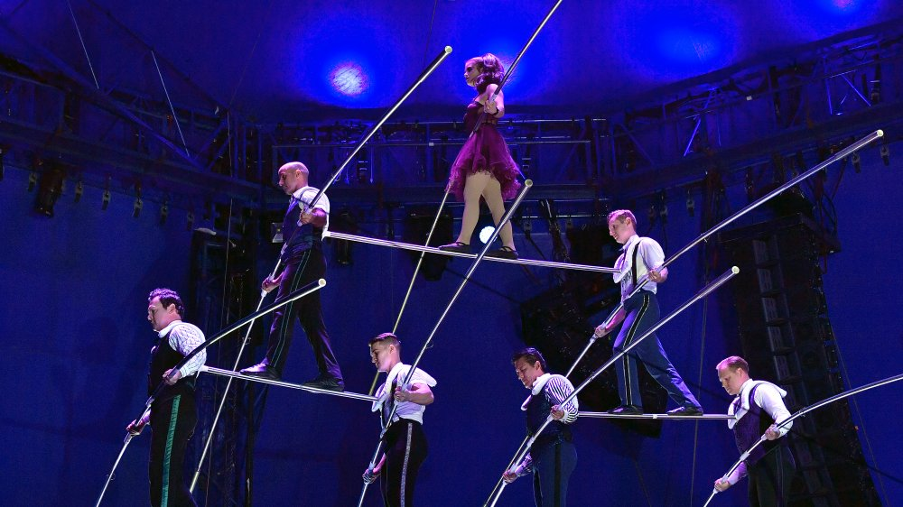 The Flying Wallendas performing a pyramid stunt