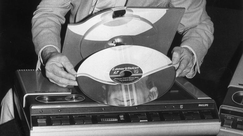 a LaserDisc over a player