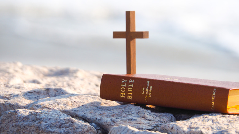 a cross and a bible