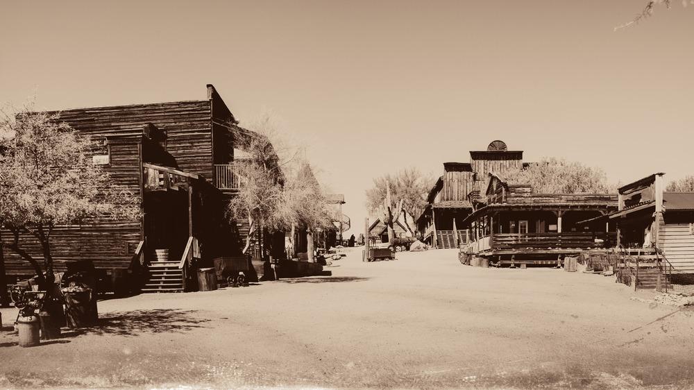Old West buildings in town