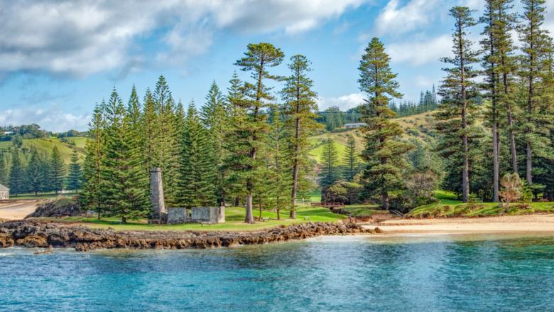 Norfolk Island penal colony ruin