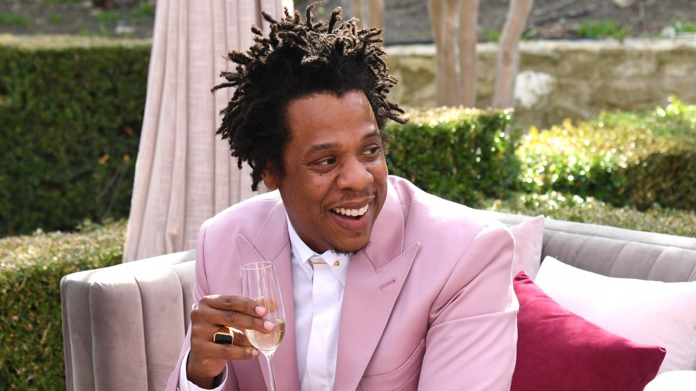 Jay-Z attending a Roc Nation event in 2020
