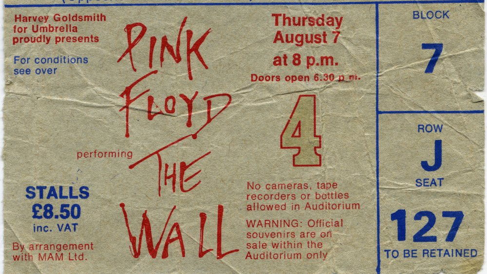 Ticket for Pink Floyd