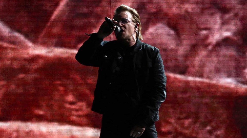 Bono's U2 performing at a concert