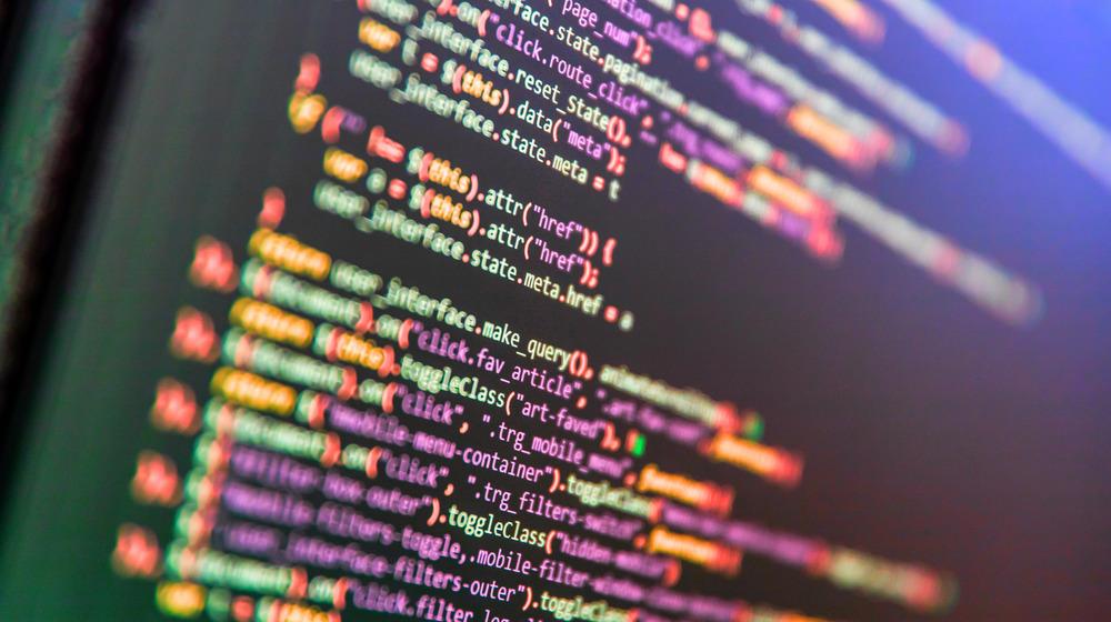 Source code displayed