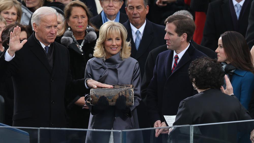 Biden swearing on family Bible