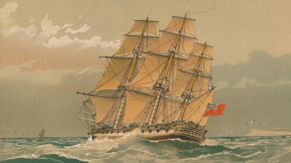 A 17th century ship