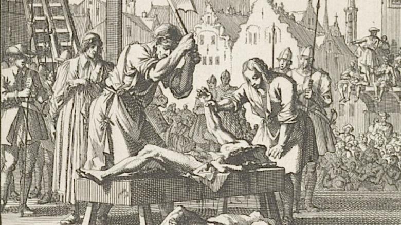 Public execution with axe