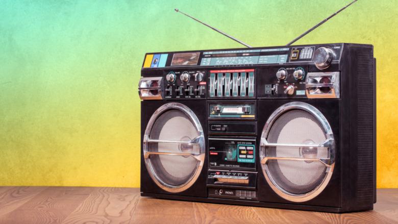 an 80s boom box