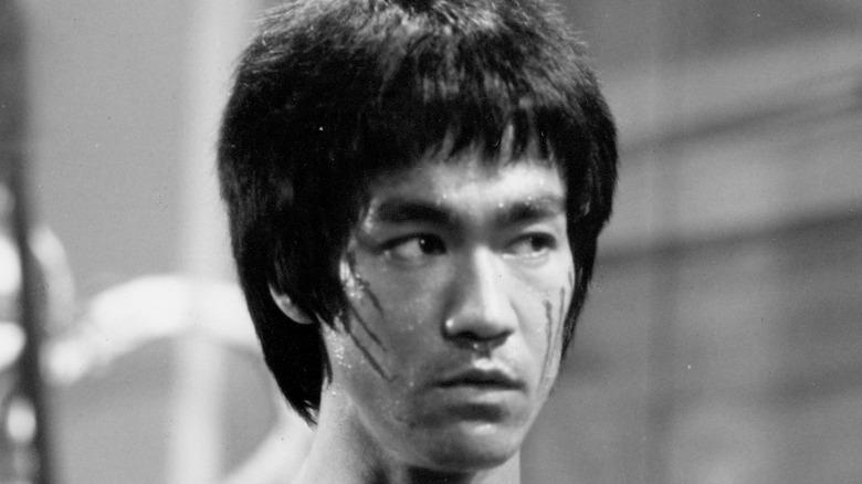 Bruce Lee poses for publicity shot