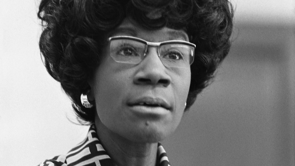 Shirley Chisholm announcing her presidential campaign in 1972