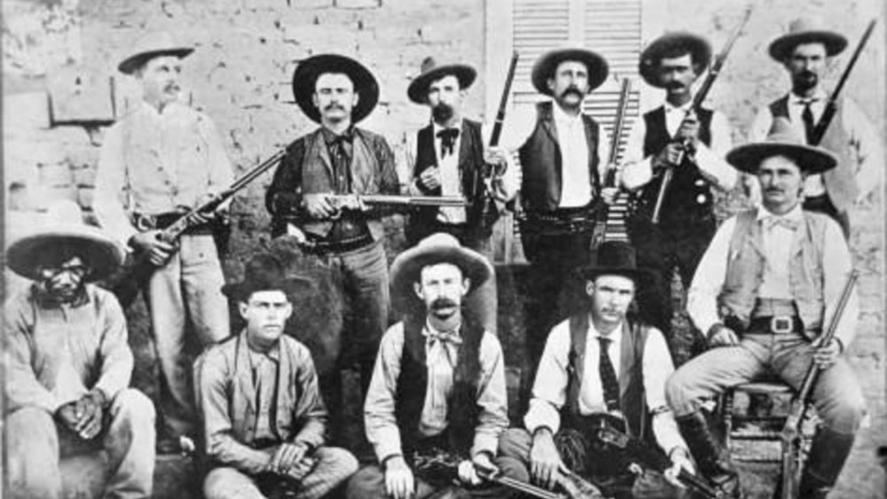 A group of Texas Rangers in 1894