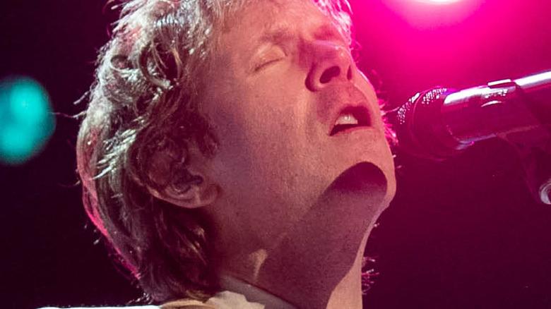 Beck performing onstage