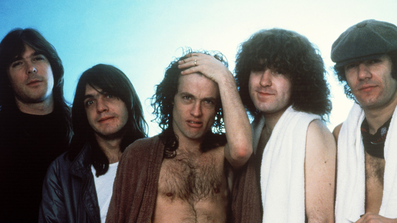 AC/DC band shot 1983