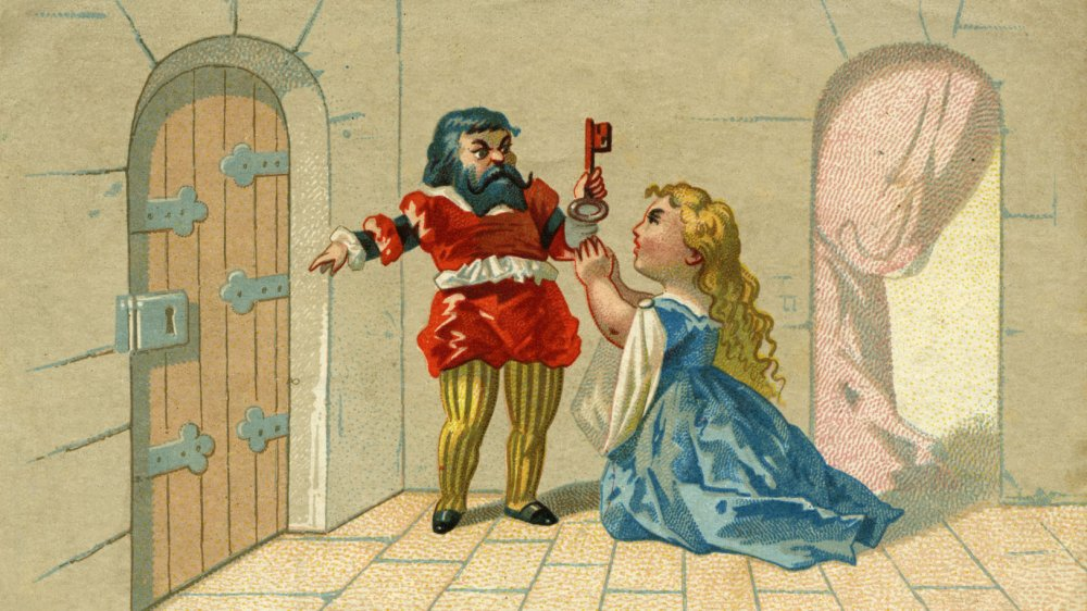 An illustration of the Bluebeard story