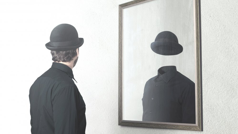 Man in a mirror