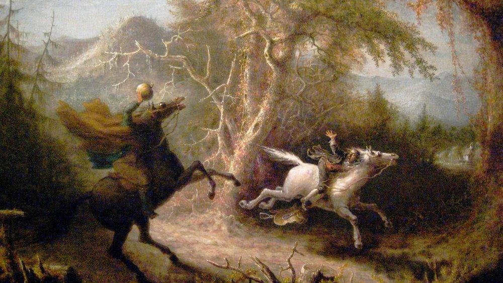The Headless Horseman pursuing Ichabod Crane