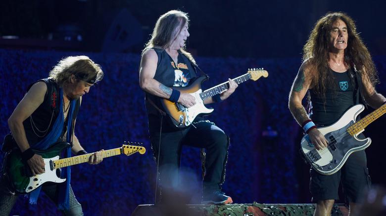 Iron Maiden performing