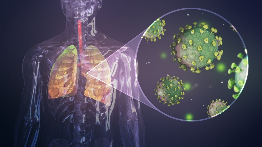Coronavirus outbreak infecting respiratory system.