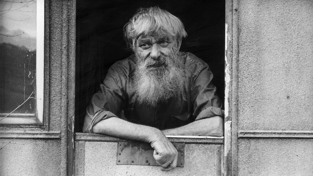 Actual hermit Len Puddles, 1987