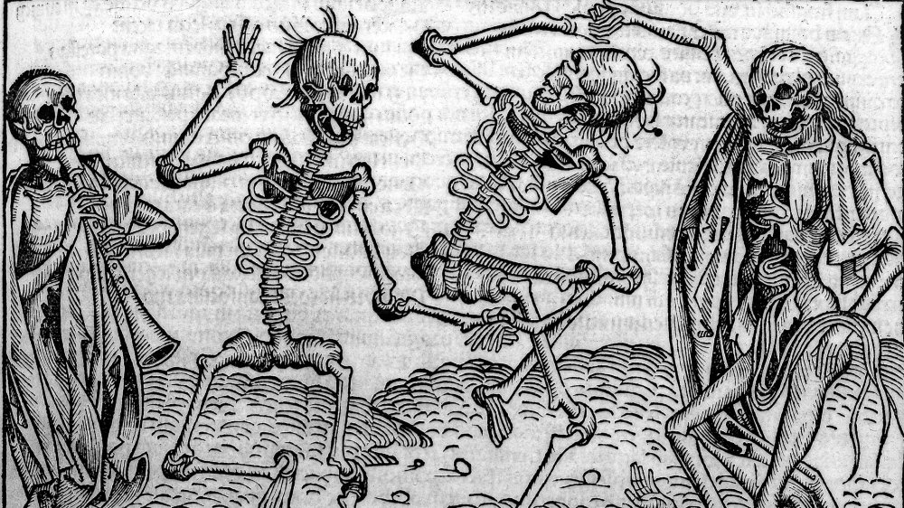 """An artist's depiction of the """"Dance of Death"""""""