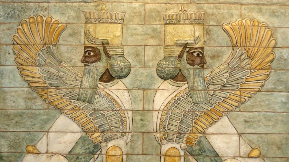 sphinxes at the palace of darius i