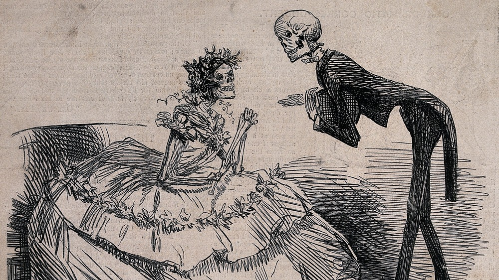 """Deadly Victorian fashion, """"The Arsenic Waltz"""", 1862"""