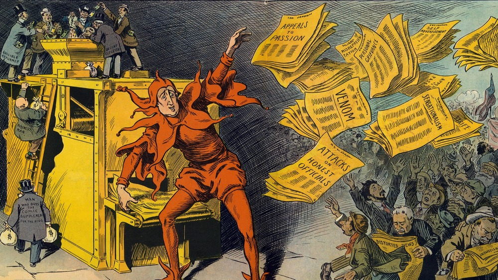 cartoon of The Yellow Press, by L.M. Glackens
