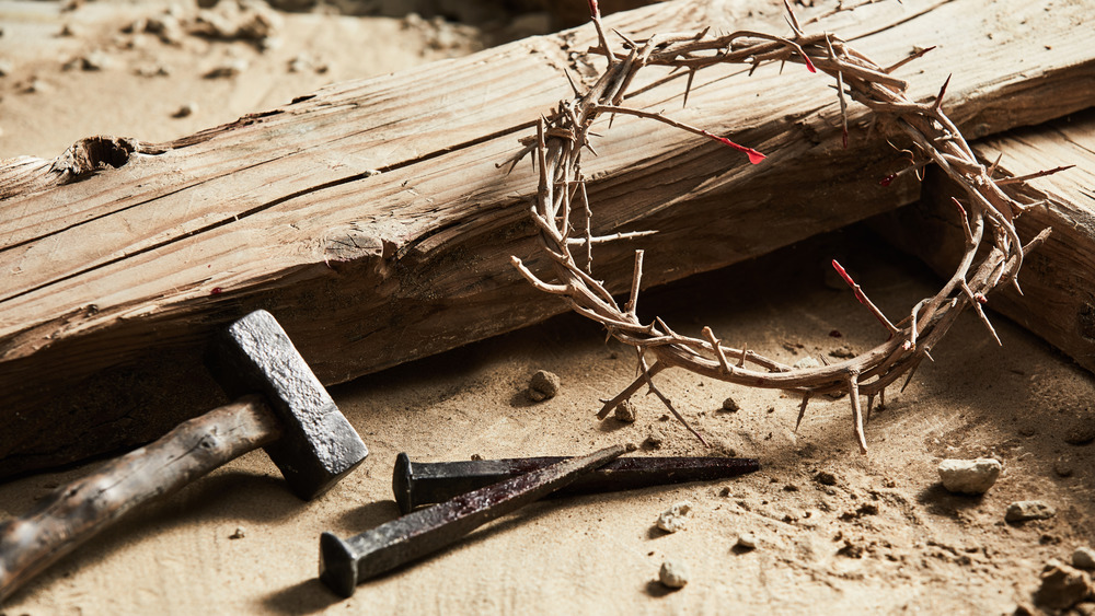 The implements of a crucifixion