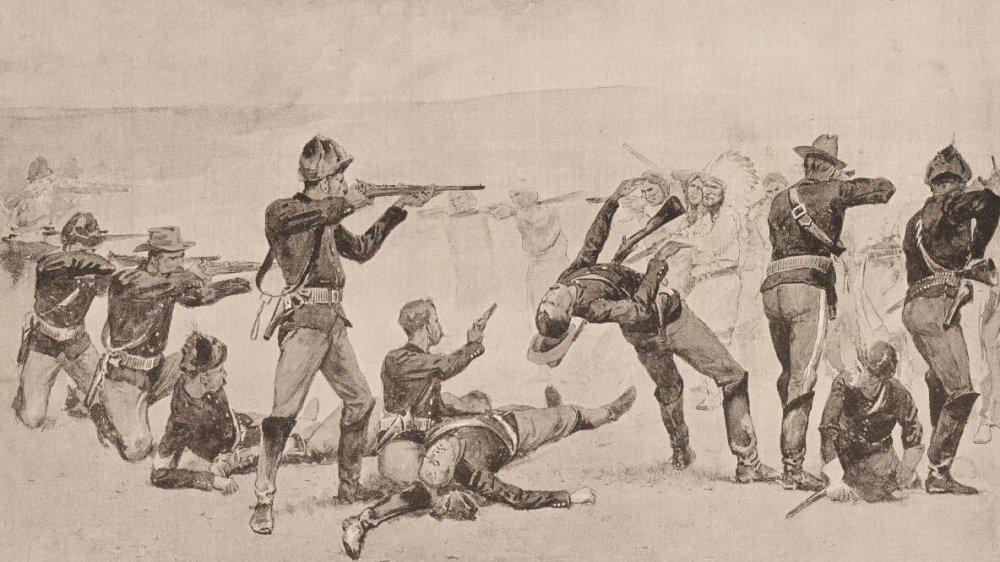 Illustration of Wounded Knee Massacre