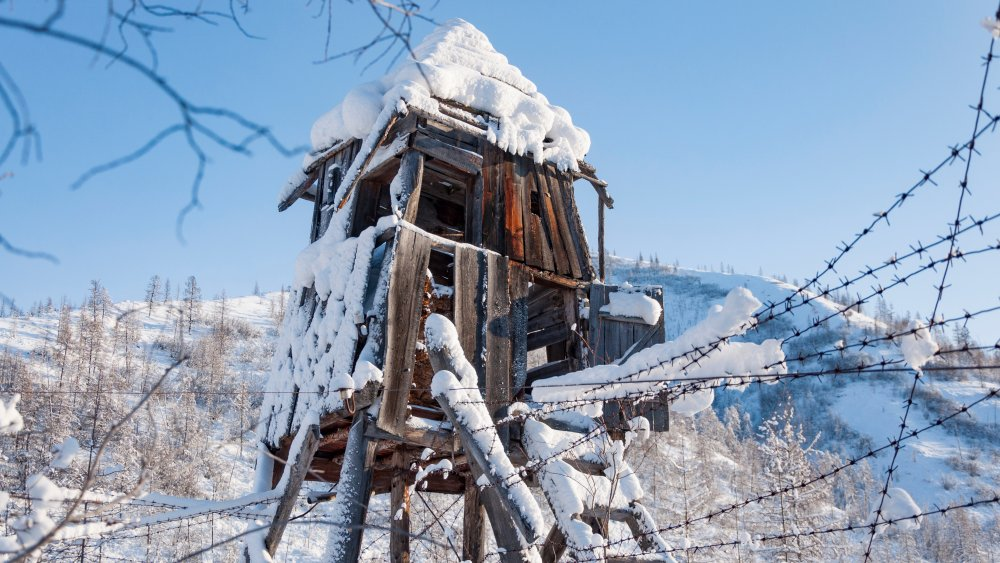Ruins of a Soviet labor camp in Siberia