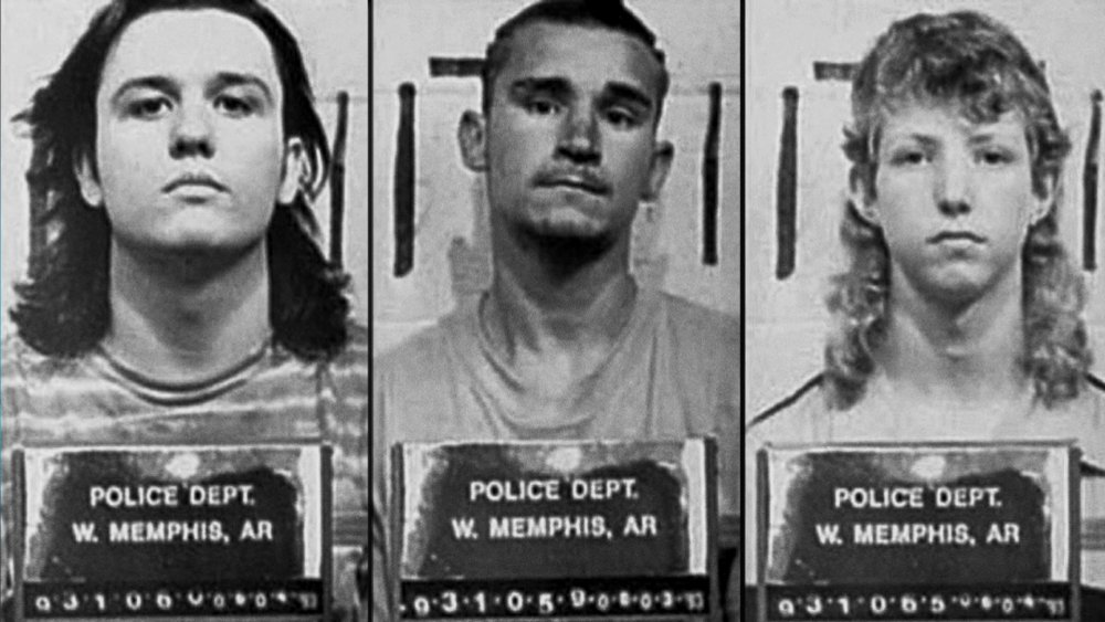 Mugshots of Damien Echols, Jessie Misskelley, and Jason Baldwin