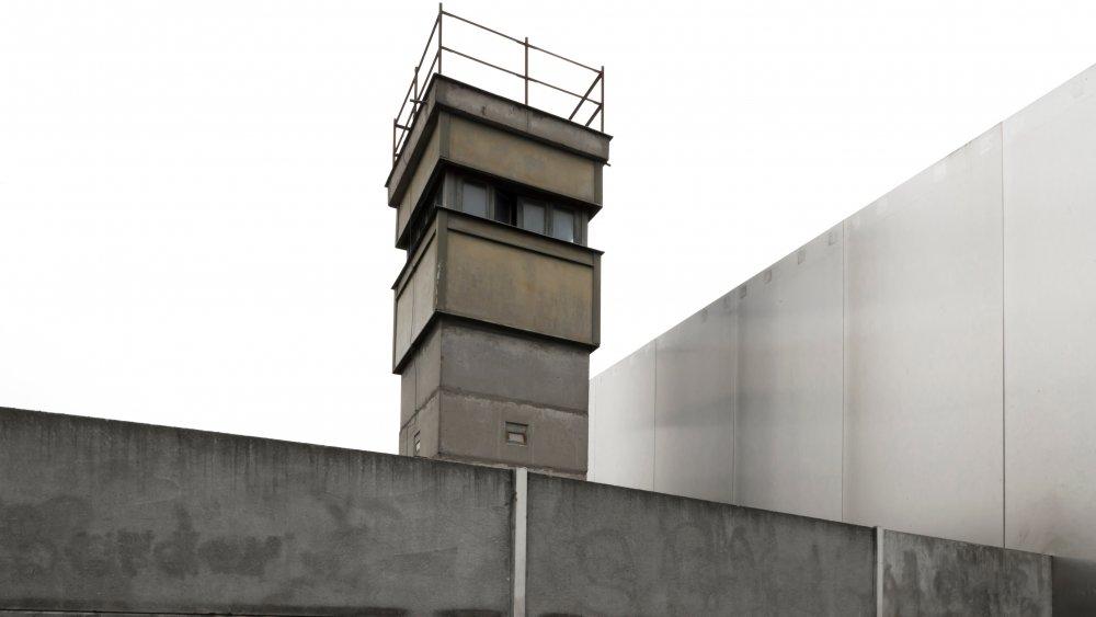 A Berlin Wall watchtower
